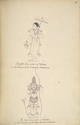 Vishnu as Vamana (the dwarf) and as Rama